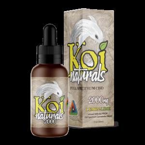 Koi Naturals Full Spectrum CBD Tincture LemonLime 2000mg Combo
