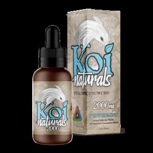 Koi Naturals Full Spectrum CBD Tincture Peppermint 2000mg Combo