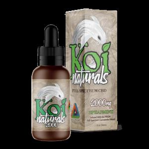 Koi Naturals Full Spectrum CBD Tincture Spearmint 2000mg Combo