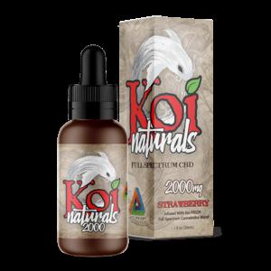 Koi Naturals Full Spectrum CBD Tincture Strawberry 2000mg Combo