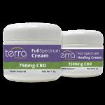 Terra Holistics Full Spectrum CBD Pain Cream 2 Jars