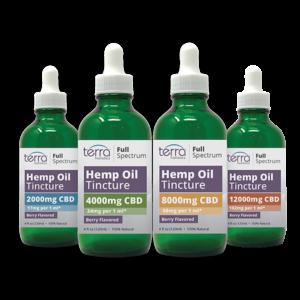 Terra Holistics Full Spectrum CBD Tincture 4 mg Strengths 120ml