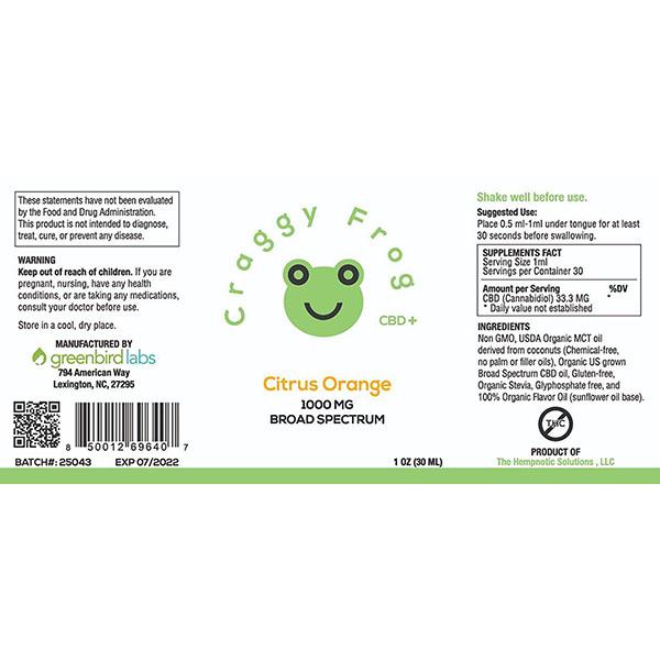 Craggy Frog 1000 label