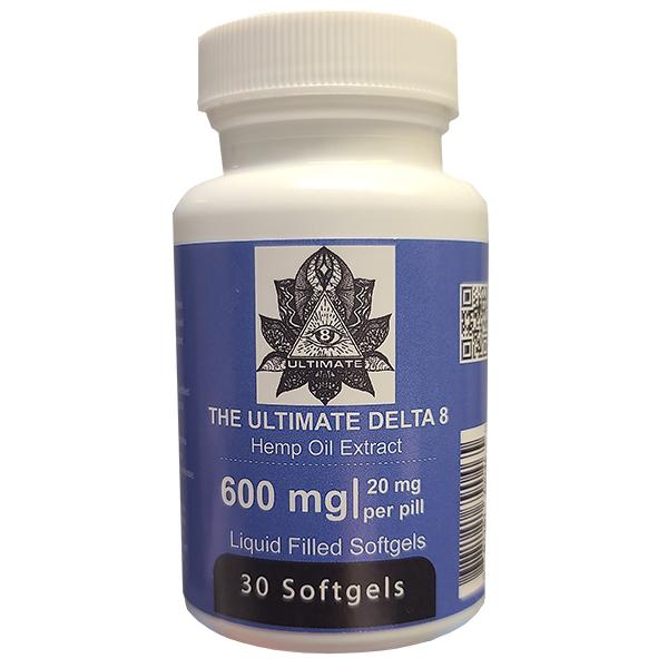 Ultimate Delta 8 Softgels Front Side