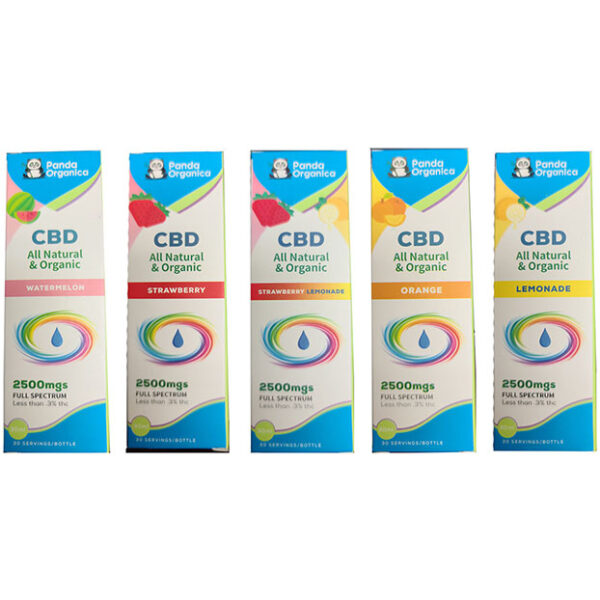 Panda Organica 2500mg CBD Five Flavors