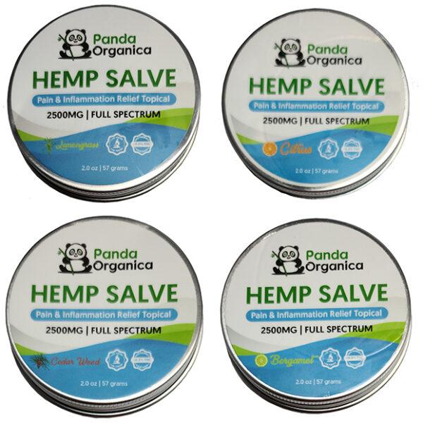Panda Organics Full Spectrum Hemp Salve - all 4