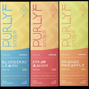Purlyf 3 Flavors Delta 8 Tincture Box