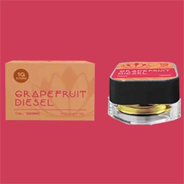 Purlyf Grapefruit Diesel Delta 8 Dab bottle and Box