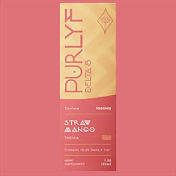 Purlyf Strawberry Mango Delta 8 Tincture Box