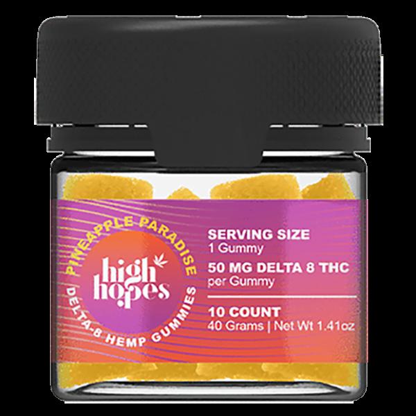 High Hopes Delta 8 Gummies Pineapple Paradise 500mg