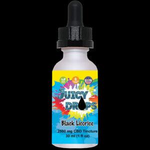Juicy Drops Tincture Black Licorice 2500mg CBD
