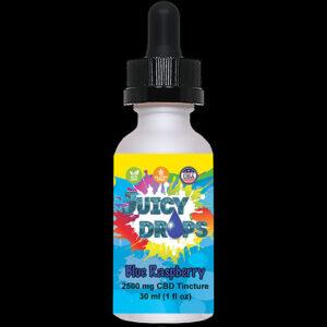 Juicy Drops Tincture Blue Raspberry 2500mg CBD