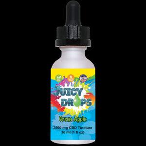 Juicy Drops Tincture Green Apple 2500mg CBD