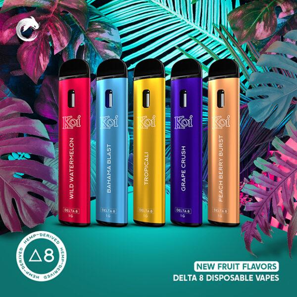 Koi Delta 8 Disposable Vape Fruit Flavors