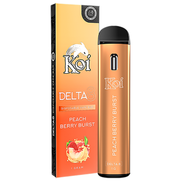 Koi Delta 8 Disposable Vape Peach Berry Burst